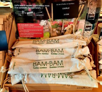 Les pailles en bambou réutilisables