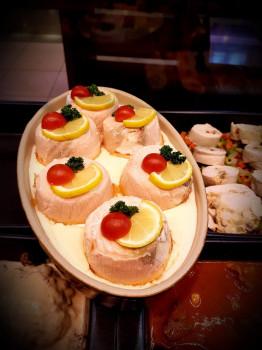 Dome de saumon au beurre blanc citronné