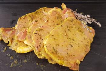Mignonettes de porc mariné thym citron